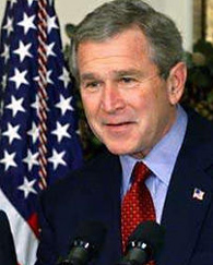 George bush fights for gay rights