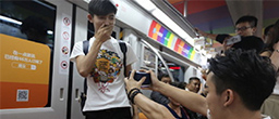 Watch: gay marriage proposal on Beijing subway